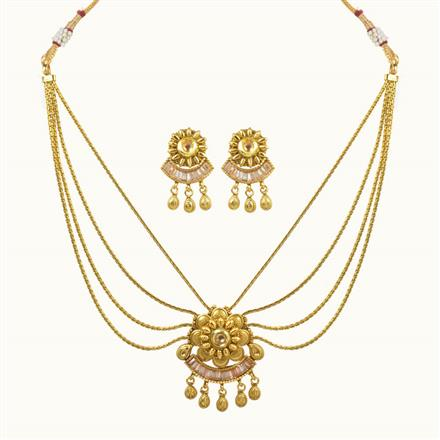 10646 Antique Classic Necklace with gold plating
