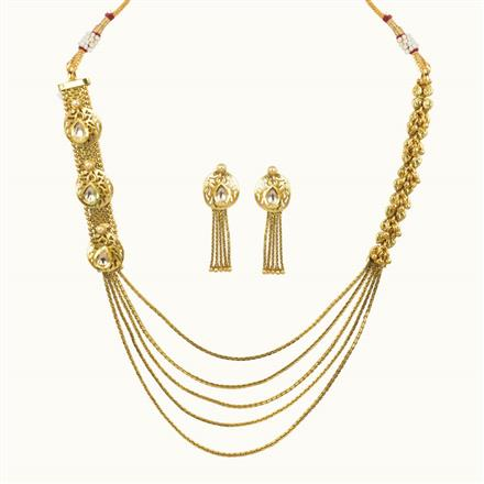 10647 Antique Long Necklace with gold plating
