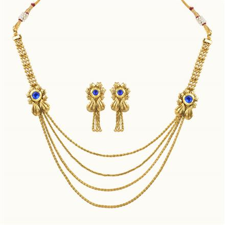 10648 Antique Delicate Necklace with gold plating