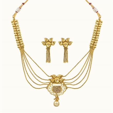 10649 Antique Classic Necklace with gold plating