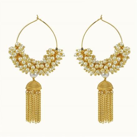 10651 Antique Jhumki with gold plating