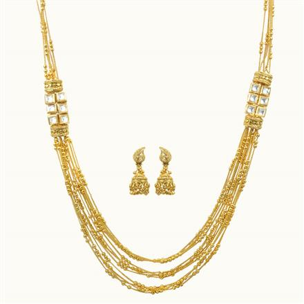 10652 Antique Long Necklace with gold plating