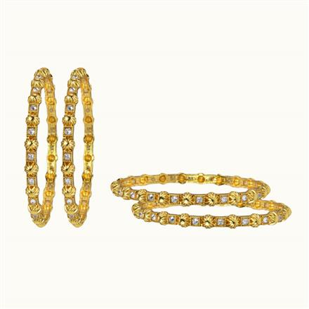 10654 Antique 4 Pc Bangle with gold plating
