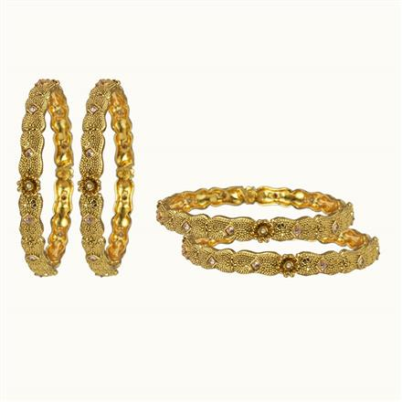 10655 Antique 4 Pc Bangle with gold plating
