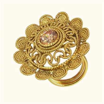10659 Antique Classic Ring with gold plating