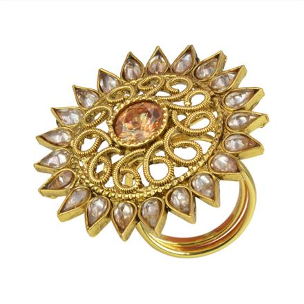 10660 Antique Classic Ring with gold plating