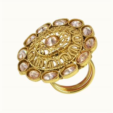 10661 Antique Classic Ring with gold plating