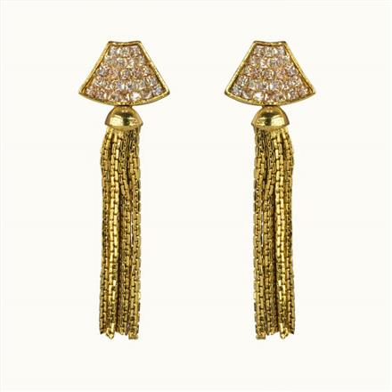 10665 Antique Delicate Earring with gold plating