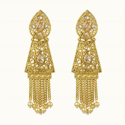 10667 Antique Classic Earring with gold plating