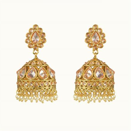 10670 Antique Jhumki with gold plating
