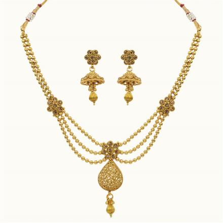 10683 Antique Classic Necklace with gold plating