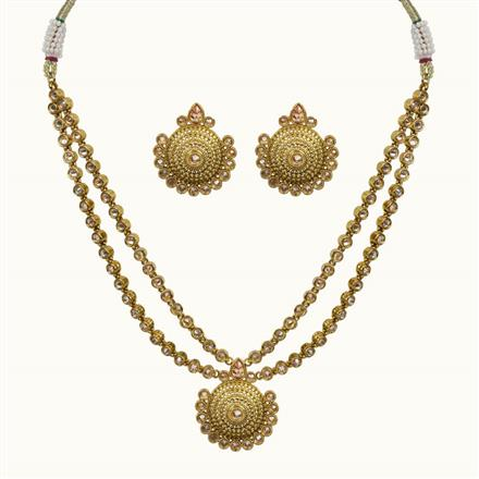 10685 Antique Classic Necklace with gold plating