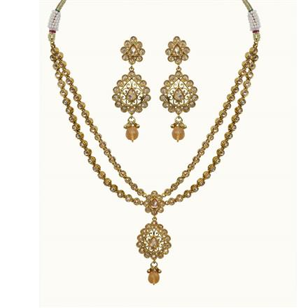 10686 Antique Classic Necklace with gold plating