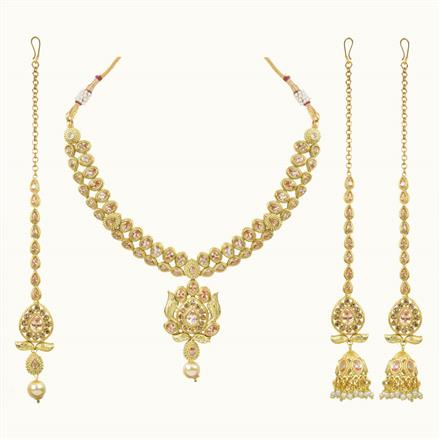 10687 Antique Classic Necklace with gold plating