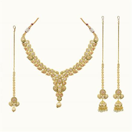 10688 Antique Classic Necklace with gold plating