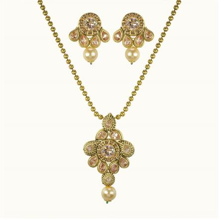 10690 Antique Classic Pendant Set with gold plating
