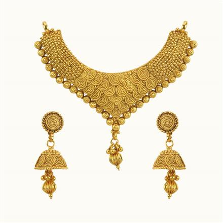 10692 Antique Plain Gold Mangalsutra