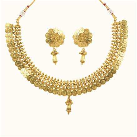10694 Antique Temple Necklace with gold plating