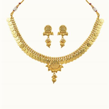 10695 Antique Temple Necklace with gold plating