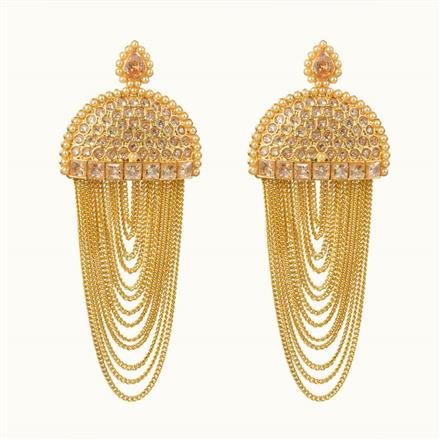 10697 Antique Classic Earring with gold plating