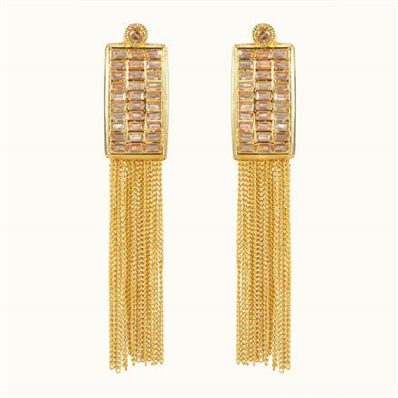 10699 Antique Classic Earring with gold plating