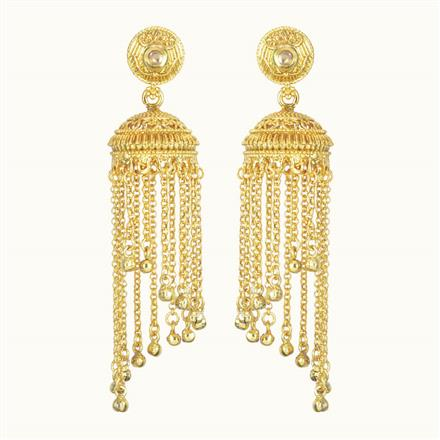 10714 Antique Jhumki with gold plating