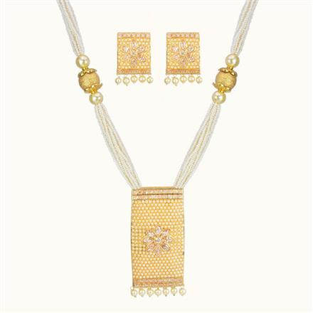 10715 Antique Mala Pendant Set with gold plating