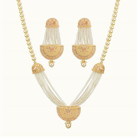 10716 Antique Mala Pendant Set with gold plating
