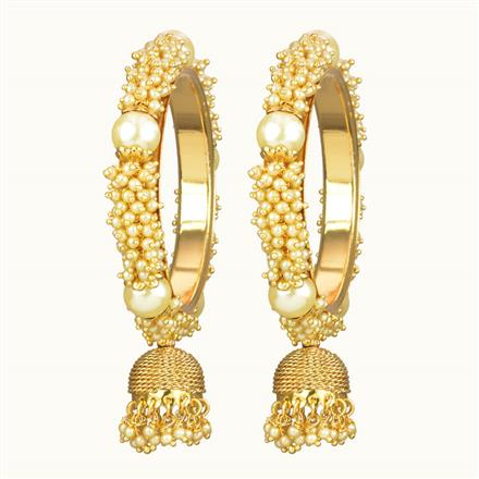10717 Antique Classic Bangles with gold plating