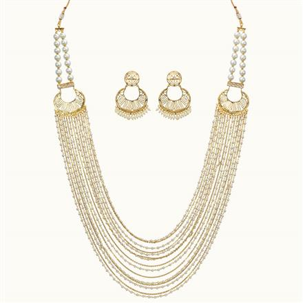 10718 Antique Mala Necklace with gold plating