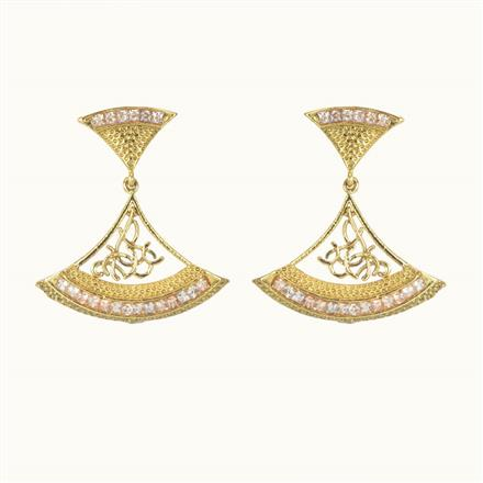 10721 Antique Classic Earring with gold plating