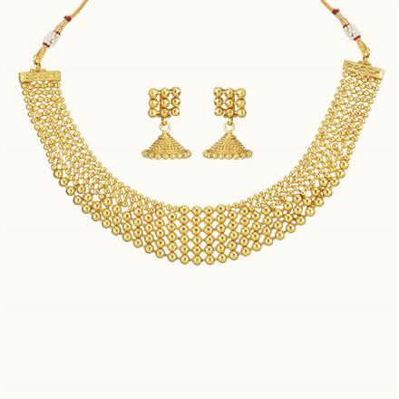 10724 Antique Plain Gold Necklace