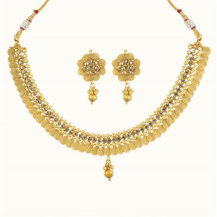 10725 Antique Classic Necklace with gold plating