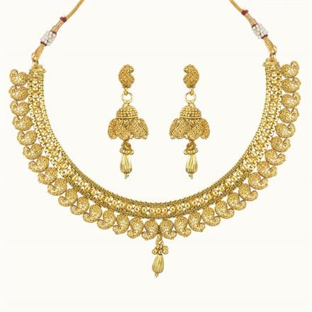 10726 Antique Plain Gold Necklace