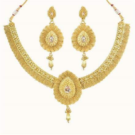 10728 Antique Plain Gold Necklace