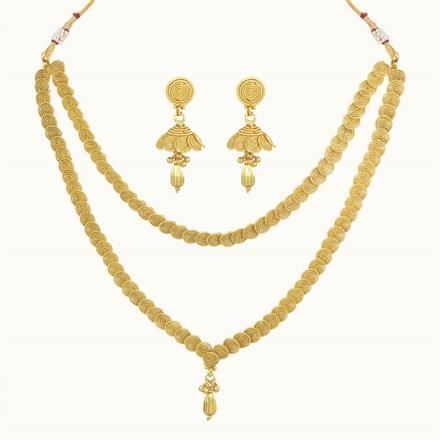 10729 Antique Plain Gold Necklace