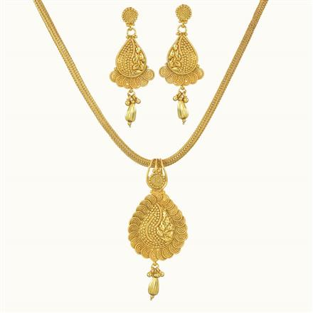 10730 Antique Delicate Pendant Set with gold plating