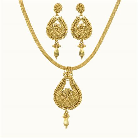 10731 Antique Delicate Pendant Set with gold plating
