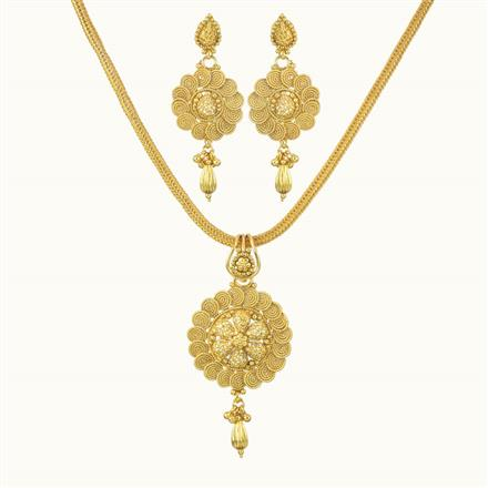 10732 Antique Delicate Pendant Set with gold plating