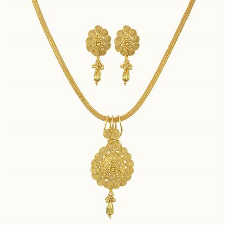 10734 Antique Delicate Pendant Set with gold plating