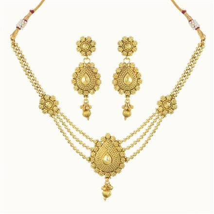 10735 Antique Delicate Necklace with gold plating