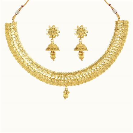 10738 Antique Plain Gold Necklace