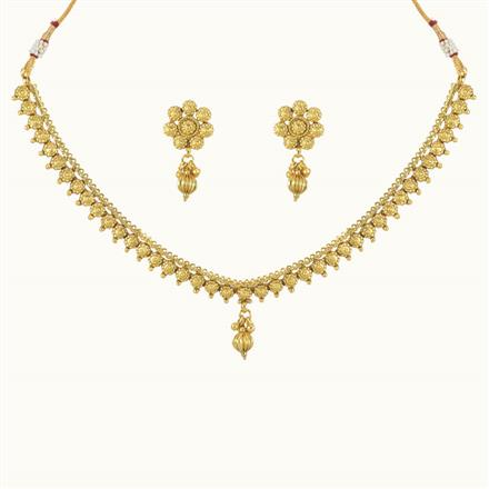 10739 Antique Delicate Necklace with gold plating