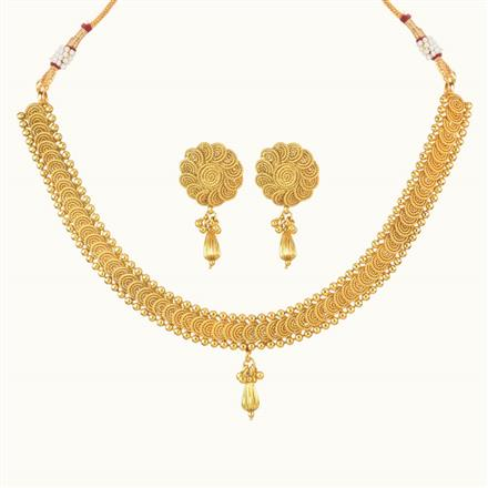 10740 Antique Delicate Necklace with gold plating