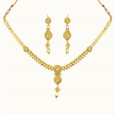 10741 Antique Delicate Necklace with gold plating