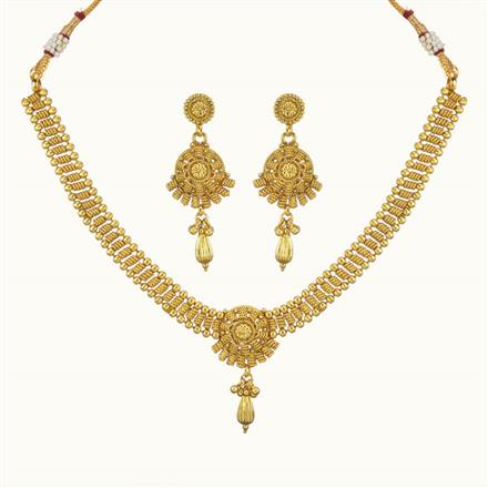 10744 Antique Delicate Necklace with gold plating
