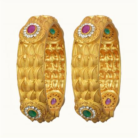 10745 Antique Openable Bangles with gold plating