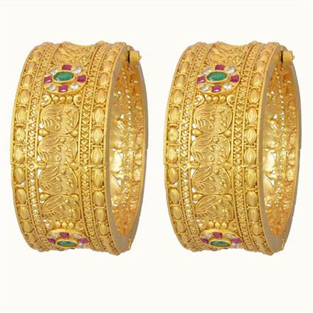 10746 Antique Openable Bangles with gold plating