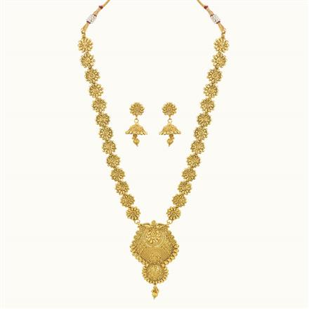 10747 Antique Long Necklace with gold plating