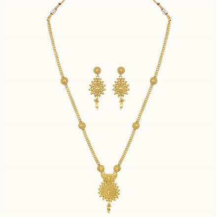 10748 Antique Long Necklace with gold plating